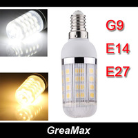 E27 E14 G9 7W 36 SMD 5050 LED Corn Light Bulb Lamp with Cover White/Warm white  Free Shipping