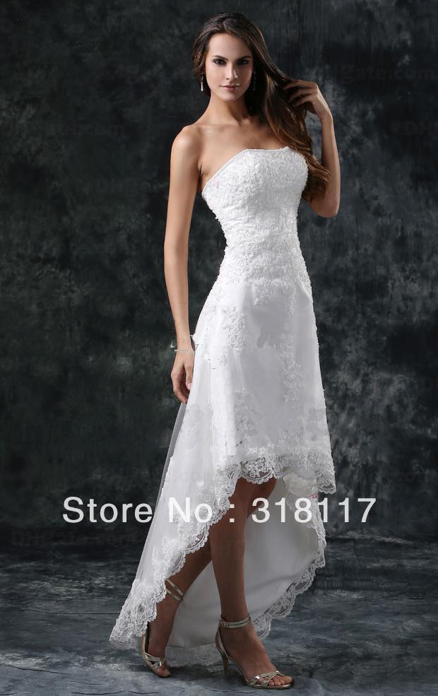 Beach Wedding Dresses Short In Front Long In Back : Short beach wedding dresses front and long back