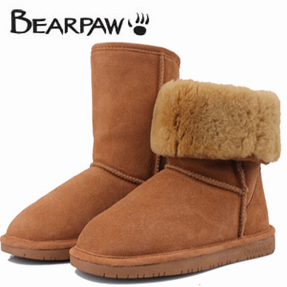 Bear Paws Fur Boots Bear Paw Snow Boot Women