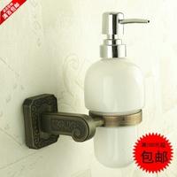 New arrival antique carved 19 series fashion bathroom copper soap dispenser bottle rack