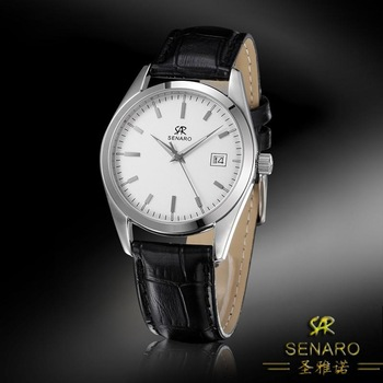 Senaro genuine leather watch fashion commercial male watch waterproof sheet lovers watch 3036g