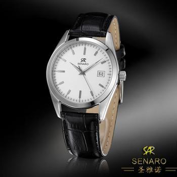 Senaro genuine leather watch fashion commercial male watch waterproof sheet lovers watch 3036g