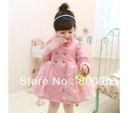 children/kids autumn clothing wind coat coats outerwear girls love heart Trench with leice blue pink colors  FXY