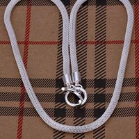 925 Серебряные цепи acn1-925 ожерелье серебро 925 серебряное ожерелье ювелирные изделия 1 мм 16-24 дюймов