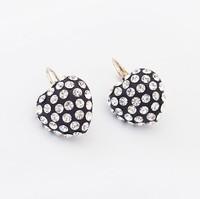 Min.order is $15(mix order) 2013 newest jewelry/Elegant all-match Heart Diamond Earrings