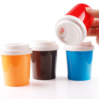Coffee cup style toothpick box plastic spice bottles candy color multifunctional toothpick tube spice jar