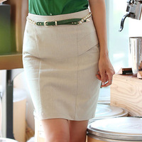 2013 spring and summer vintage mid waist skirt elastic slim hip slim dress professional skirt bust skirt step skirt female