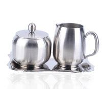 High quality stainless steel sugar milk cup set spice jar kitchen supplies seasoning box