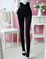 2013 HOT PANTS HIGH   WAIST  Button Sailor Dress Pants Waisted Pinup Fitted Slim Skinny Leggings