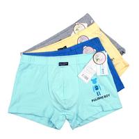 Free Shipping Diprivan 100% cotton solid color big boy 100% cotton child boxer panties male