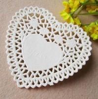 """4"""" Heart doily placemats Paper heart Lace paper doilies mat"""