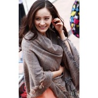 Best selling!! Air conditioning shawl Scarf Thick plaid scarves long thin plaid wool scarf free shipping