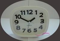 White Fashion Mini Cute Portable Desk Table Office Alarm Clock