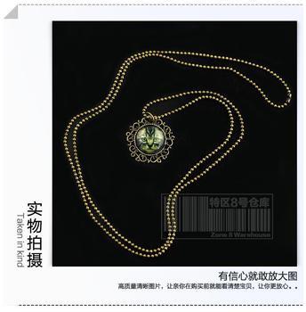 Es0652 cat necklace vintage necklace cat necklace necklace accessories