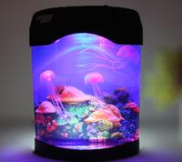 Free Shipping Aureateness aquarium pet mini usb battery electronic jellyfish box gift mothers day gift