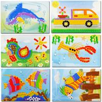 Eva mosaic sticker handmade child puzzle foam number puzzle