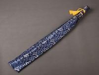 Silk Bag Blue Dragon Design for Japanese Samurai Sword Katana Knives QD1