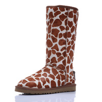 One piece rukas fur snow boots fashion boots 5815 high-leg