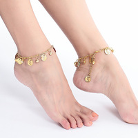 Indian dance leglet belly dance accessories belly dance metal bell anklets dance foot chain gold silver