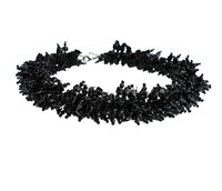 Free shipping!!!Fashion Necklace Jewelry,2013, Acryl zinc alloy lobster clasp, Nuggets, black, 5x6mm, Length:18 Inch