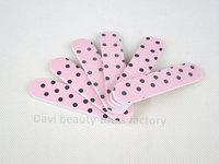 emery file 100PCS/LOT emery board  pattern sandpaper mini nail file nail art FREE SHIPPING #SC0331-07
