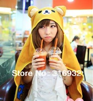 K1 RK01 Free shipping, Small size (90*70cm) Rilakkuma Plush soft Cloak, 1pc
