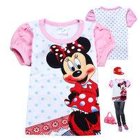 2013 new Summer cotton Minnie Mouse t shirts for children 6pcs/lot girls' clothing short-sleeve Minni kids children's t-shirts