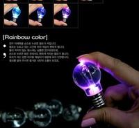 Small gift colorful led light bulb light bulb seven color allochroism bulb keychain card