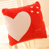 Fashion heart love pillow trainborn thickening cotton air conditioning cartoon cushion quilt pillow dual