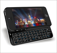 Wireless Bluetooth Standing Keyboard case and Slide-out mini Keyboard case for iPhone 5 K50