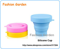 FedEx Free Shipping 100% Silicone Cup Foldable Silicone Coffee Cup High Quality Silicone Tea Cup Wholesale Cheap Silicone Cup