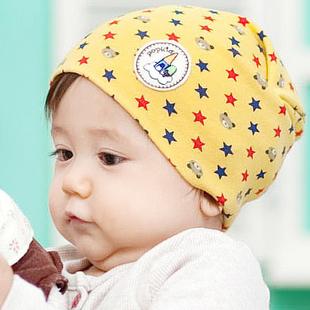 Cartoon child pocket hat five-pointed star print 1 2 male hat lovely nightcap