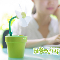 Dole flower pot fan humidifier mini fan usb mini humidifier