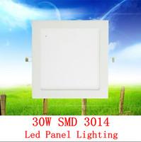 2X 30w 225*225 led panel lighting ceiling light AC85-265V ,SMD3014, Alumium,Warm /Cool white,indoor lighting led