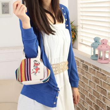 Chinese style mini vintage women's coin purse fashion small handbag canvas bag women's handbag women's bags