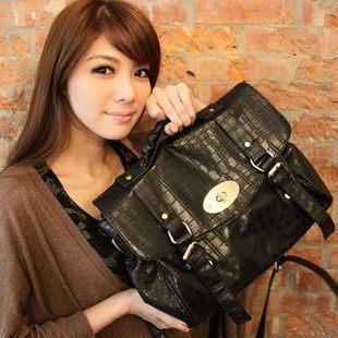 Flip lock large vintage bags women's handbag