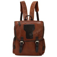 Fashion vintage cool double-shoulder cowhide backpack travel bag luggage computer 7060B