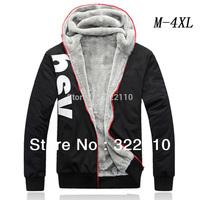 Men's Jacket 2014 Autumn/winter Coat Warm Costume Fur/Plush Sports Coats Casual clothes Sweatshirt Outerwear M-4XL