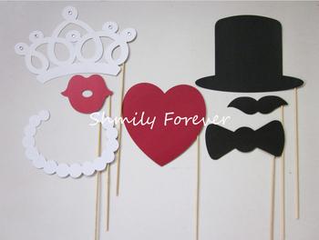 7pcs  Wedding Decor Funny Mask Wedding Party Photography Photo Props  ON A STICK wedding party decoration stuff   Free Shipping