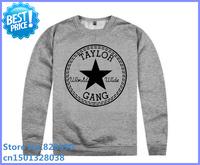 free shipping 2014 100% cotton pullover sweatshirt taylor gang pirate hiphop fashion yellow wiz khalifa hoodie