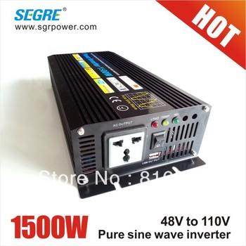 Hot Selling pure sine wave off grid power inverter 1500w dc to ac 48v 110v.