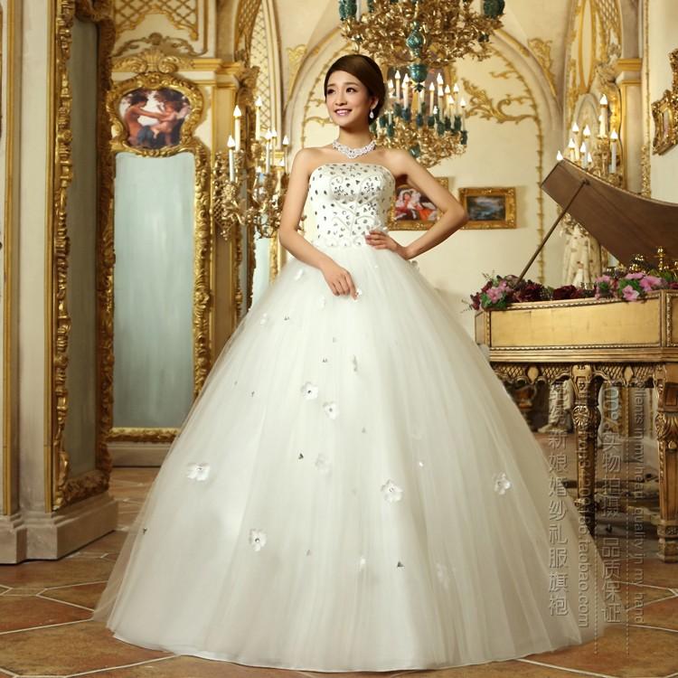 Turmec » strapless wedding dresses with diamonds