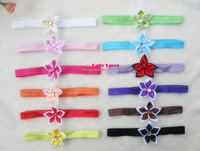 Free Shipping 12pcs Mini Pointed Flower Headband Hair Band Headwear Bow Accessories For Newborn Infant Kid Toddler Baby Girls