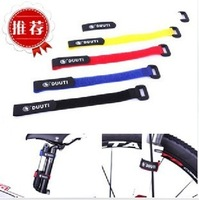 10psc/lot Universal duuti velcro strap universal straps beam-ray tube bicycle line bundle with