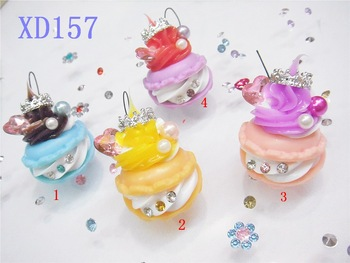 Diamond cake pendant macaron pvc mobile phone bag