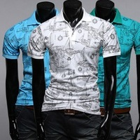 hot sale new arrival summer fashion men short sleeve polo shirt