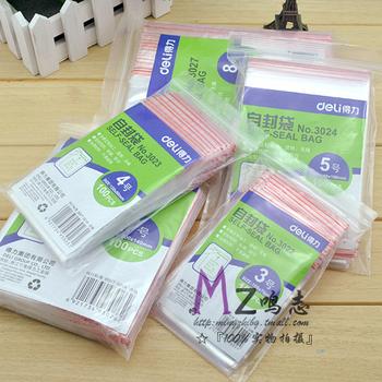 Lackadaisical ziplock bag 3 4 5 6 7 8 9 10 thickening transparent packaging bag ziplock bag plastic bags