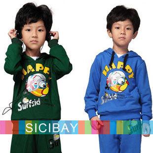 Baby Boy Sets Spring/Autumn Kids Suits Fashion Cartoon Children Clothing Hoodies K0651
