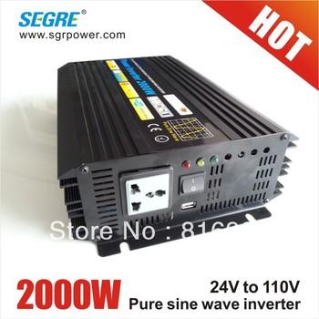 Cheap inverter 24v 2000w 110v pure sine wave grid tie solar inverter.