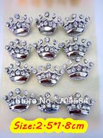 Free Shipping Silver Plating Mini Crown Brooches Collor  Perky Lapel Pin 12pcs/lot